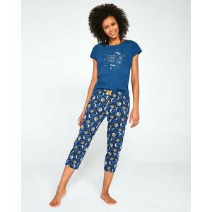Dámské pyžamo Cornette 498/197 Moon 2 kr/r S-2XL džíny S