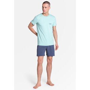 Pánské pyžamo Henderson 38875 Lobe kr/r M-2XL světle zelená XXL