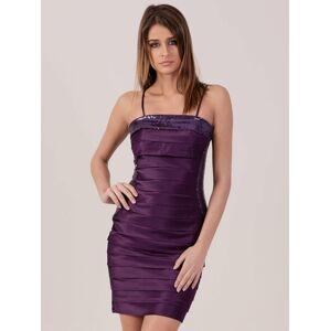 Tmavě fialové šaty s flitrovými vložkami 44
