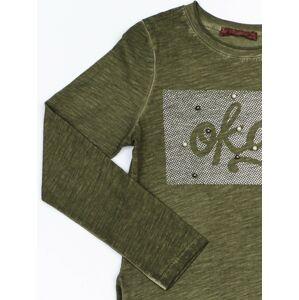 Bavlněná tunika pro dívku v khaki barvě 128