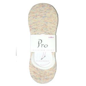 Dámské ponožky baleríny PRO Cotton Women Socks 20416 Silikon 36-40 béžový 36-40