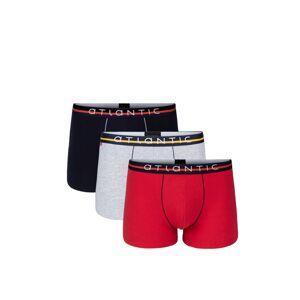 Pánské boxerky Atlantic 3MH-004 A'3 červeno-tmavě šedá S