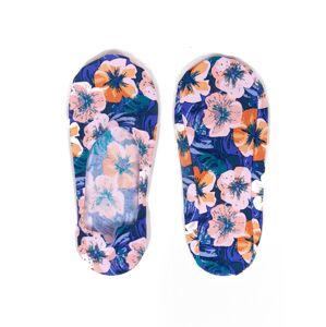 Dámské ponožky baleríny YO! SKB-41 Laserové květy grafit 31-34