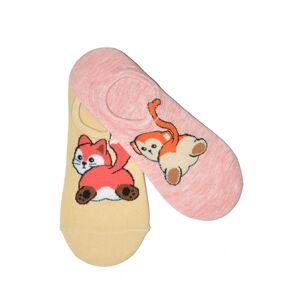 Dámské ponožky baleríny WiK Midini 81161 Fat Animal A'2 mátově béžová 36-38