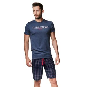 Pánské pyžamo Henderson 39243 Myth kr/r M-XL navy M