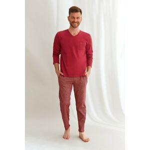 Pánské pyžamo Taro 2638 dł/r Martin M-2XL Z'22 czerwony M