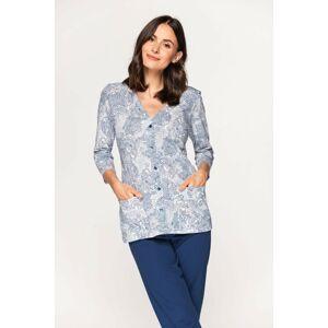 Dámské pyžamo Cana 573 3/4 S-XL biały-niebieski S