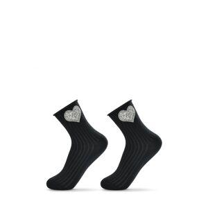 Dámské ponožky s ozdobami Be Snazzy SK-36, 36-41 czarne 36-41