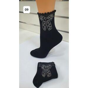 Dámské ponožky Magnetis 54 Zirconia Bow 21/22 czarne uniwersalny