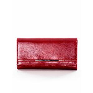 Přírodní červená kožená peněženka ONE SIZE