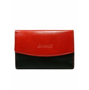 Červená a černá oboustranná kožená dámská peněženka jedna velikost