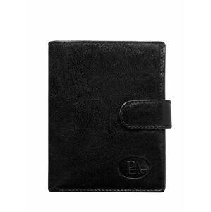 Pánská černá kožená peněženka se zapínáním na patent ONE SIZE