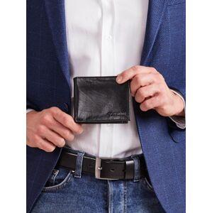 Pánská černá kožená peněženka ONE SIZE