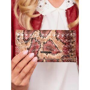Červená vzorovaná kožená peněženka jedna velikost