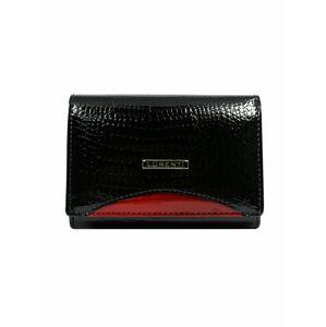 Kožená peněženka s červeným černým modulem