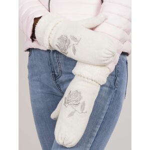 Bílé rukavice bez prstů ONE SIZE