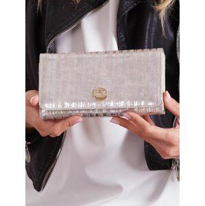 Dámská stříbrná pruhovaná kožená peněženka jedna velikost