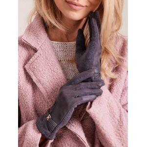 Dámské klasické tmavě šedé rukavice L / XL