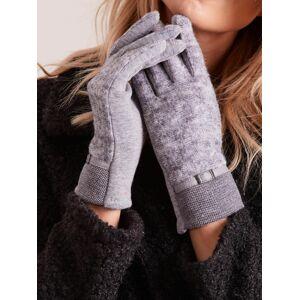 Rękawiczki z dzianinowym modułem szare S/M