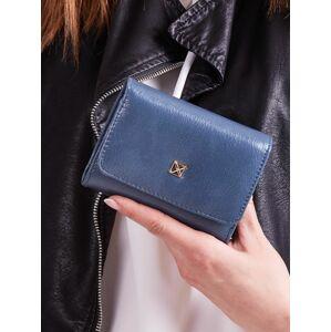 Dámská modrá peněženka z umělé kůže jedna velikost