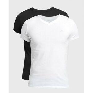 2PACK pánské tričko Gant černo/bílé (901002118-111) L