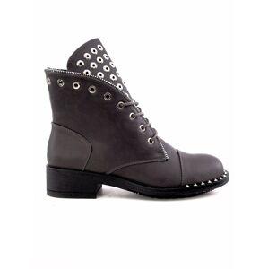 Šedé boty s cvočky 39