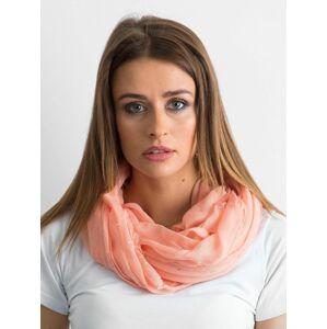 Broskvový šátek s kamínky jedna velikost