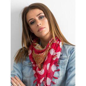 Vzorovaný červený šátek ONE SIZE
