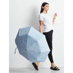 Skládaný malý deštník s potiskem jedna velikost