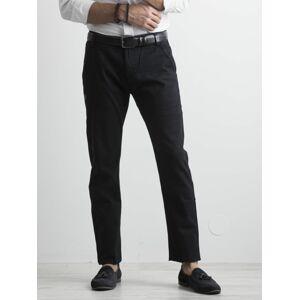 Pánské tmavě modré chino kalhoty 29