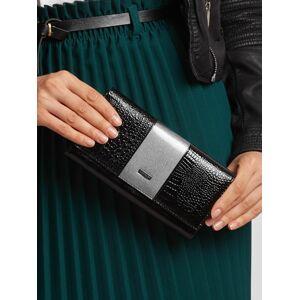 Šedá a černá kožená peněženka jedna velikost