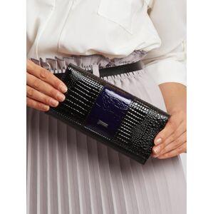Dámská modrá a černá kožená peněženka jedna velikost