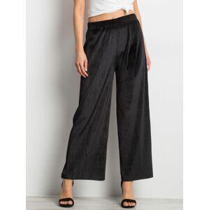 Černé skládané kalhoty S