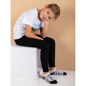 Černé termoaktivní chlapecké kalhoty 110/116
