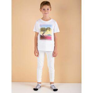 Chlapecké termoaktivní ecru kalhoty 110/116