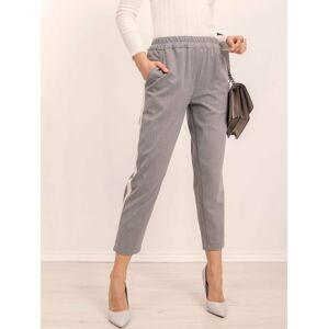 Kalhoty s pruhy BSL šedé XS