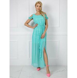 Dlouhé mátové šaty 40