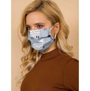 Opakovaně použitelná šedobílá ochranná maska ONE SIZE