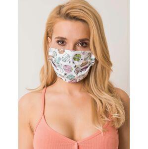 Bílá opakovaně použitelná maska s potiskem ONE SIZE