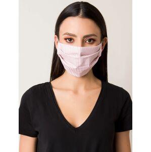 Opakovaně použitelná růžová maska s pruhy ONE SIZE