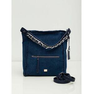 Taška s dekorativní tmavě modrou rukojetí jedna velikost