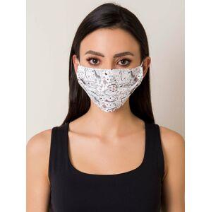 Opakovaně použitelná bílá maska se zvířecím potiskem ONE SIZE