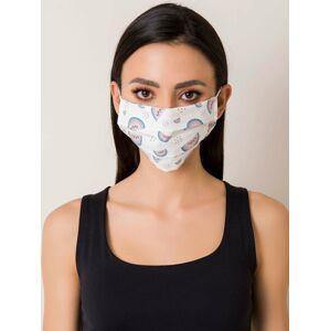 Bílá ochranná maska s potiskem ONE SIZE