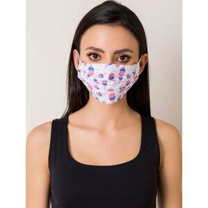 Opakovaně použitelná bílá bavlněná maska s potiskem ONE SIZE