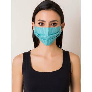 Tyrkysová pruhovaná ochranná maska ONE SIZE