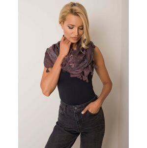 Fialový šátek s květinovým motivem jedna velikost