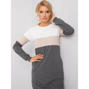 Šedé mikinové šaty RUE PARIS S