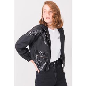 Dámská černá bunda BSL s kapucí XS