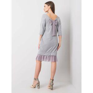 Šedé nadměrné šaty S/M