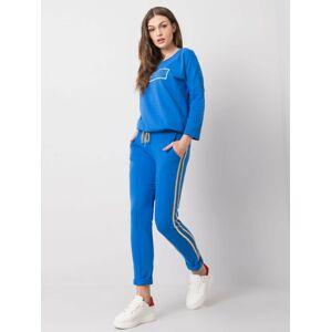 Tmavě modré kalhoty s pruhy M